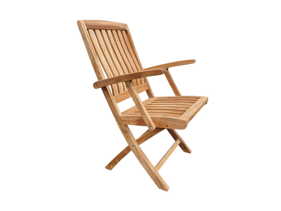 Luxus folding teak dining arm chair