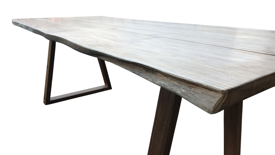 In store image of Living Edge teak outdoor table