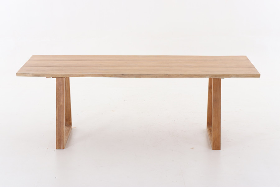 Side view of Joseph teak outdoor table 240x100
