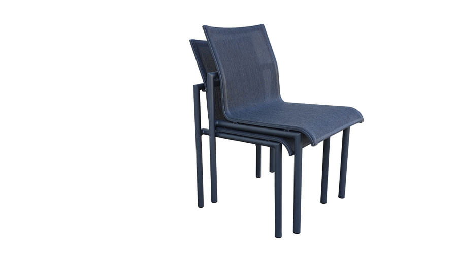 Bastingage dining side chair by Les Jardins - stackable