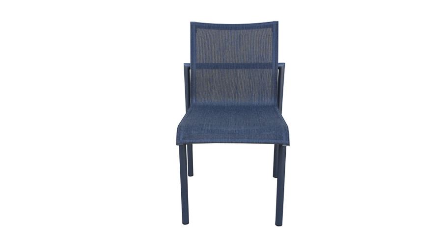 Front view of Bastingage dining side chair by Les Jardins