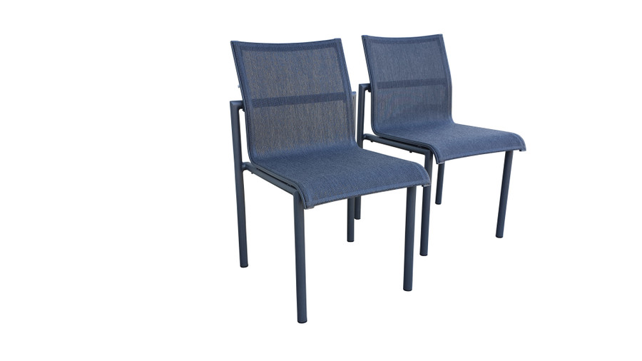 Bastingage dining side chair by Les Jardins