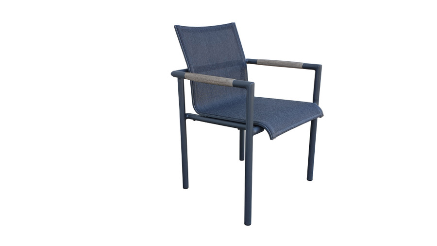 Bastingage stackable dining arm chair by Les Jardins