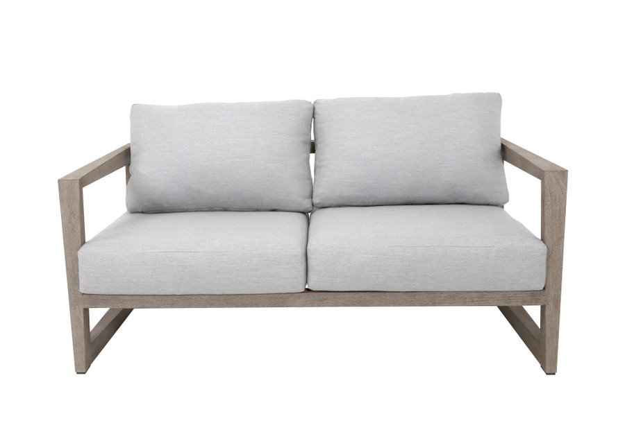 Front view of Skaal outdoor 2.5 person sofa by Les Jardins