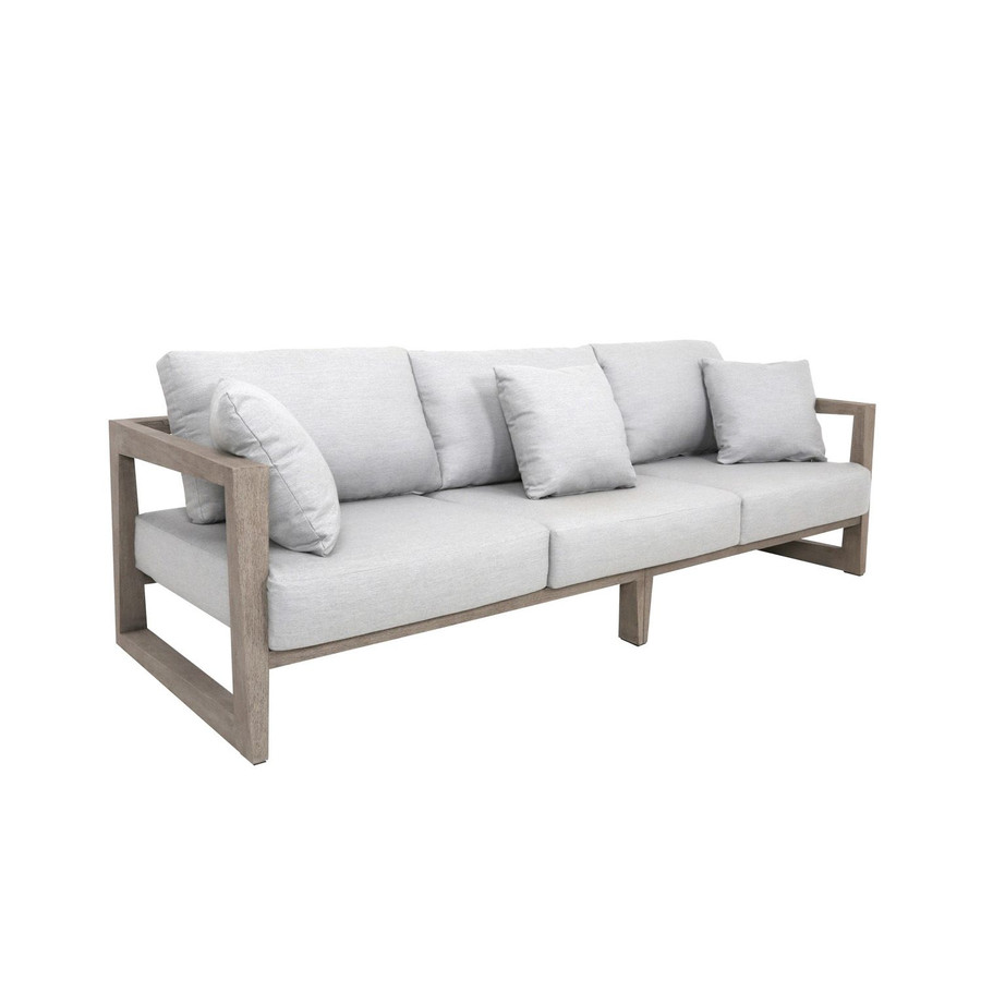 Skaal 3 person outdoor teak sofa. Scatter cushions available separately.