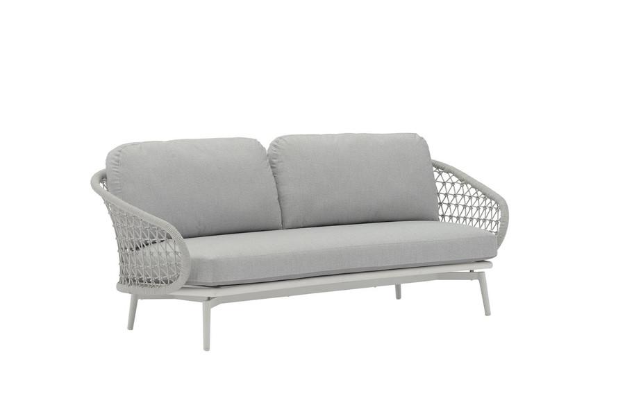 Cuddle outdoor aluminium and rope 2.5 person sofa