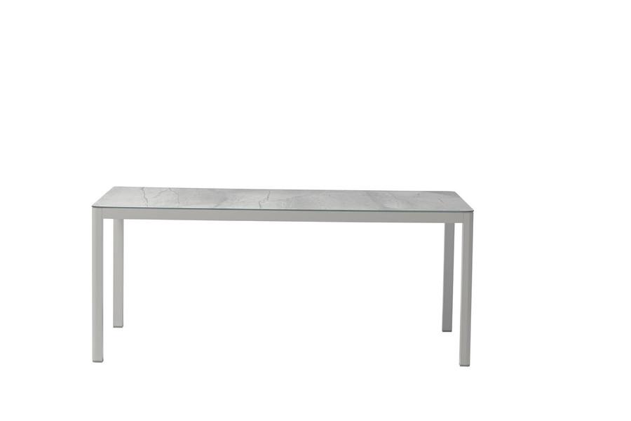 Club outdoor aluminium and ceramic table - 180cm table shown