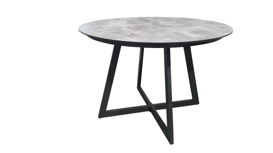 Jimmy outdoor dining table with HPL top