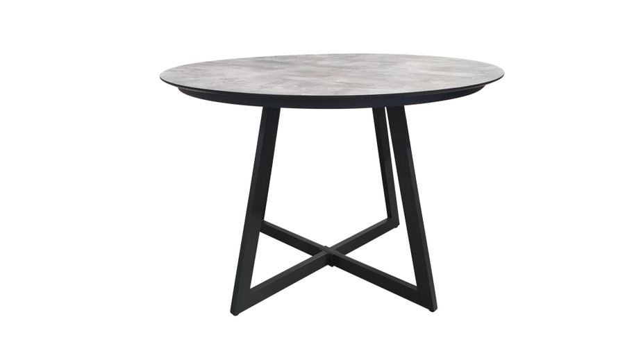 Another view of Jimmy outdoor table with HPL top