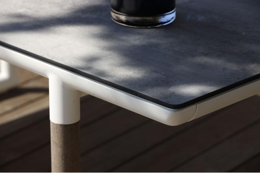 Bastingage extension table HPL concrete beton top