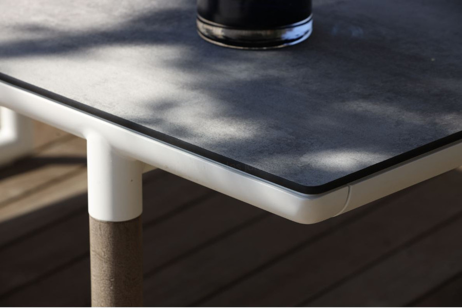Bastingage extension table HPL concrete beton top
