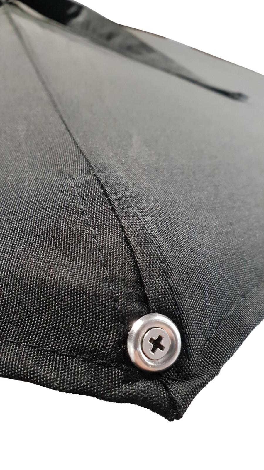 Monza 3.5m umbrella plastic end clip on rib and screw fitting