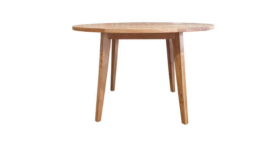Another view of Oslo teak 120cm diameter outdoor dining table