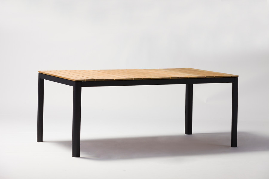 Pebo table shown with charcoal frame. Please note - image shows size 160x90