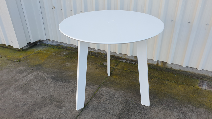 Another view of Tripod outdoor table