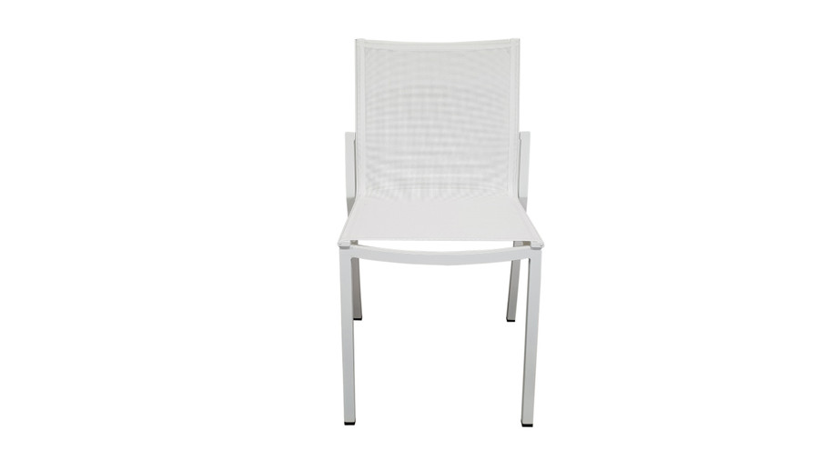 Front view of Amaka outdoor side chair in White