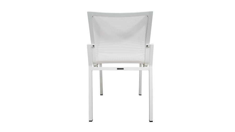 Rear view of Amaka outdoor side chair in White