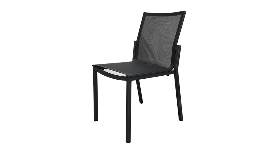 Amaka outdoor side chair in Slate Grey