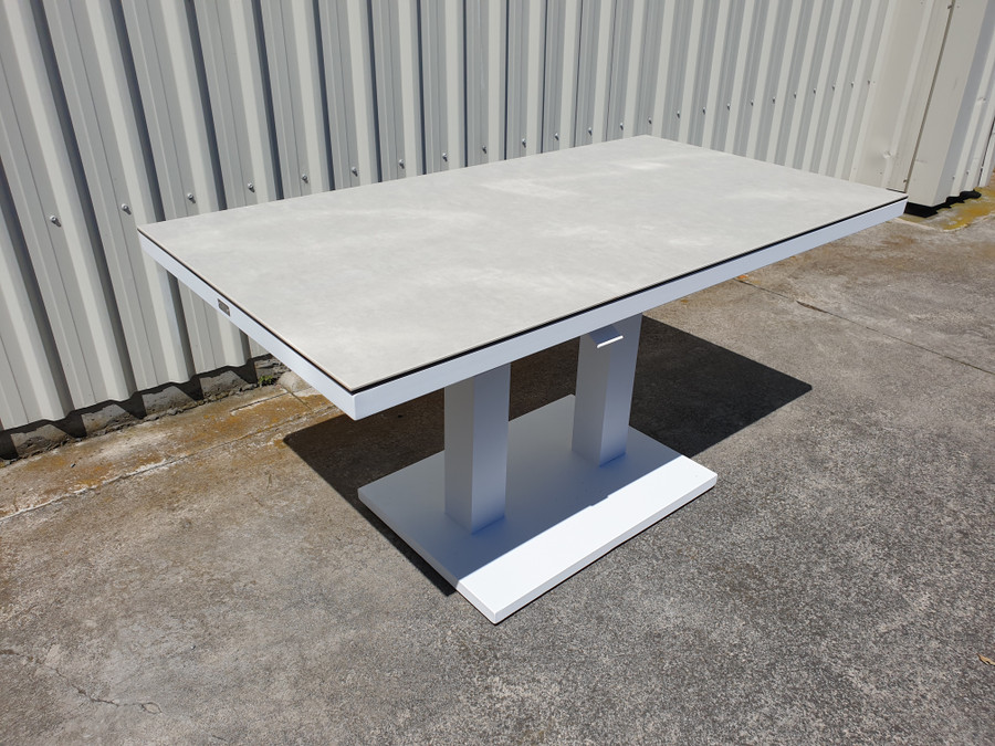 Side view of Zeb outdoor coffee table.