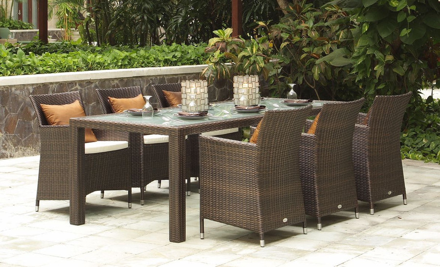 HAWAII Outdoor Armchair - 6mm flat weave wicker