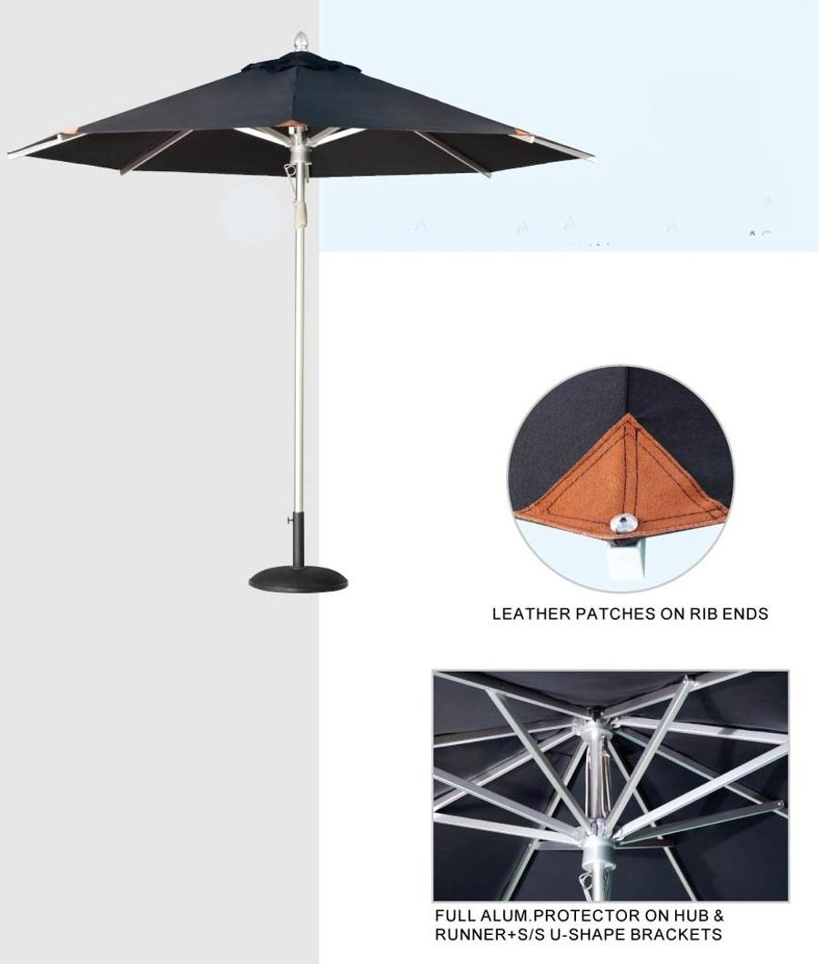 Umbrella Aluminium 3.5M dia Comm  - Tiri by Point