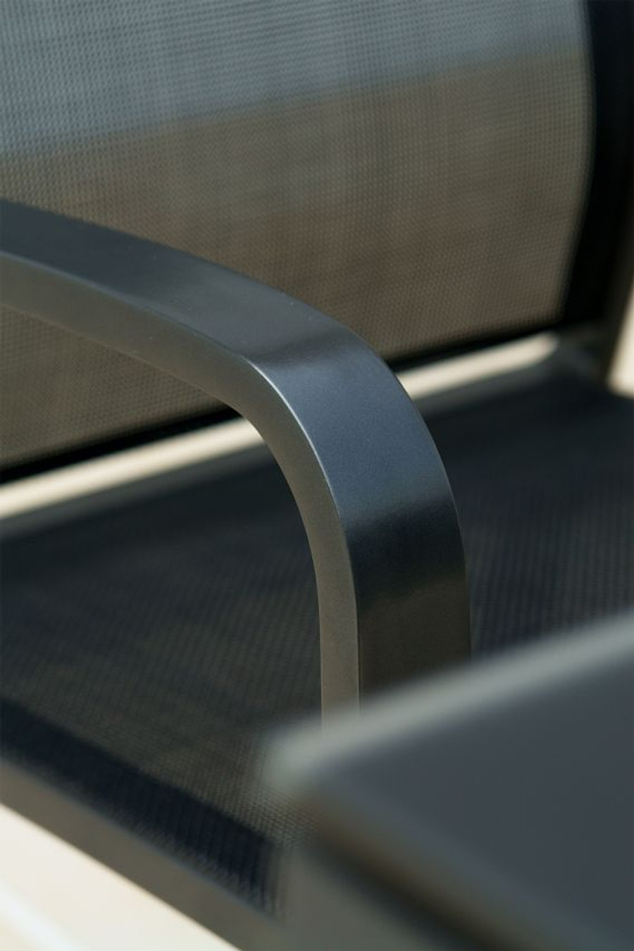 close up detail of quality powder-coated aluminium frame