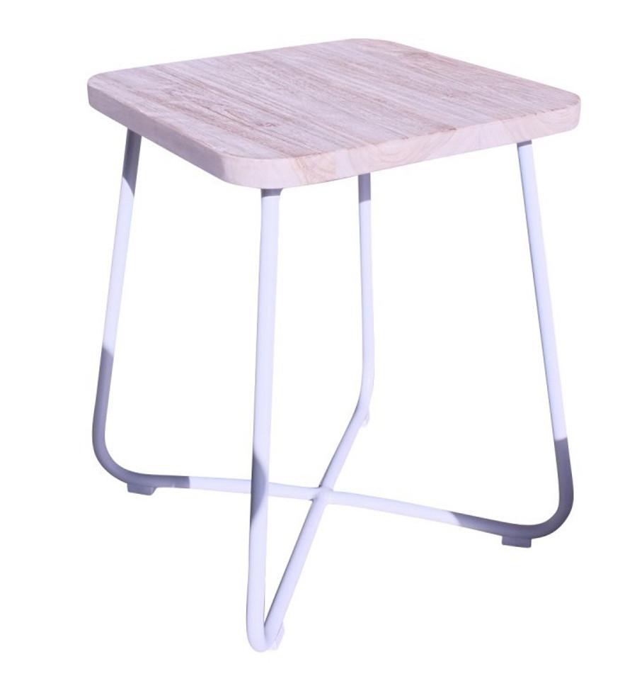 Foxtrot outdoor teak and aluminium side table