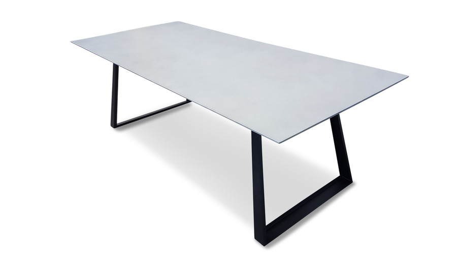 Verge lightweight fibre cement outdoor dining table - :