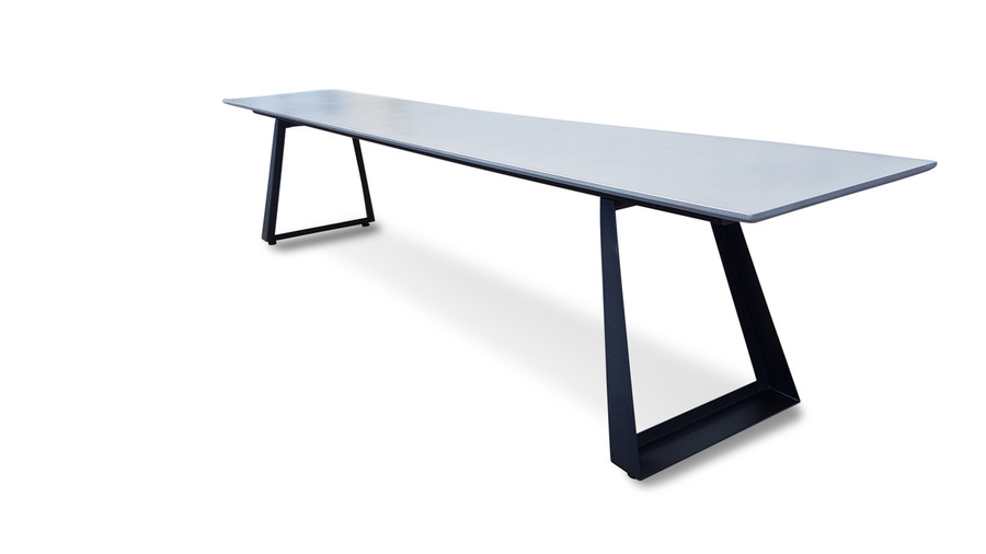 Verge lightweight fibre cement outdoor bench - 2.2m :