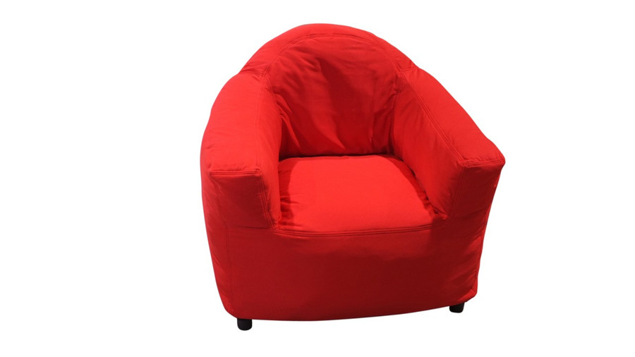 red club chair - frontal view