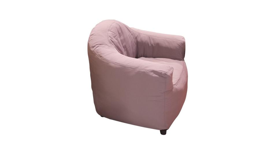cream club chair - side view