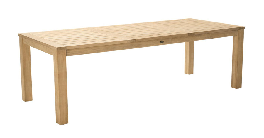 Angle view of Devon Couper outdoor table - 2.4x1.0m rectangular version