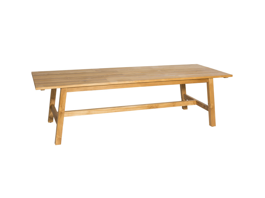 Devon Claris teak outdoor dining table is a large format table ideal for grand entertaining