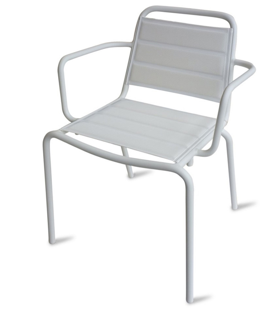 Vega chair version shown with arms