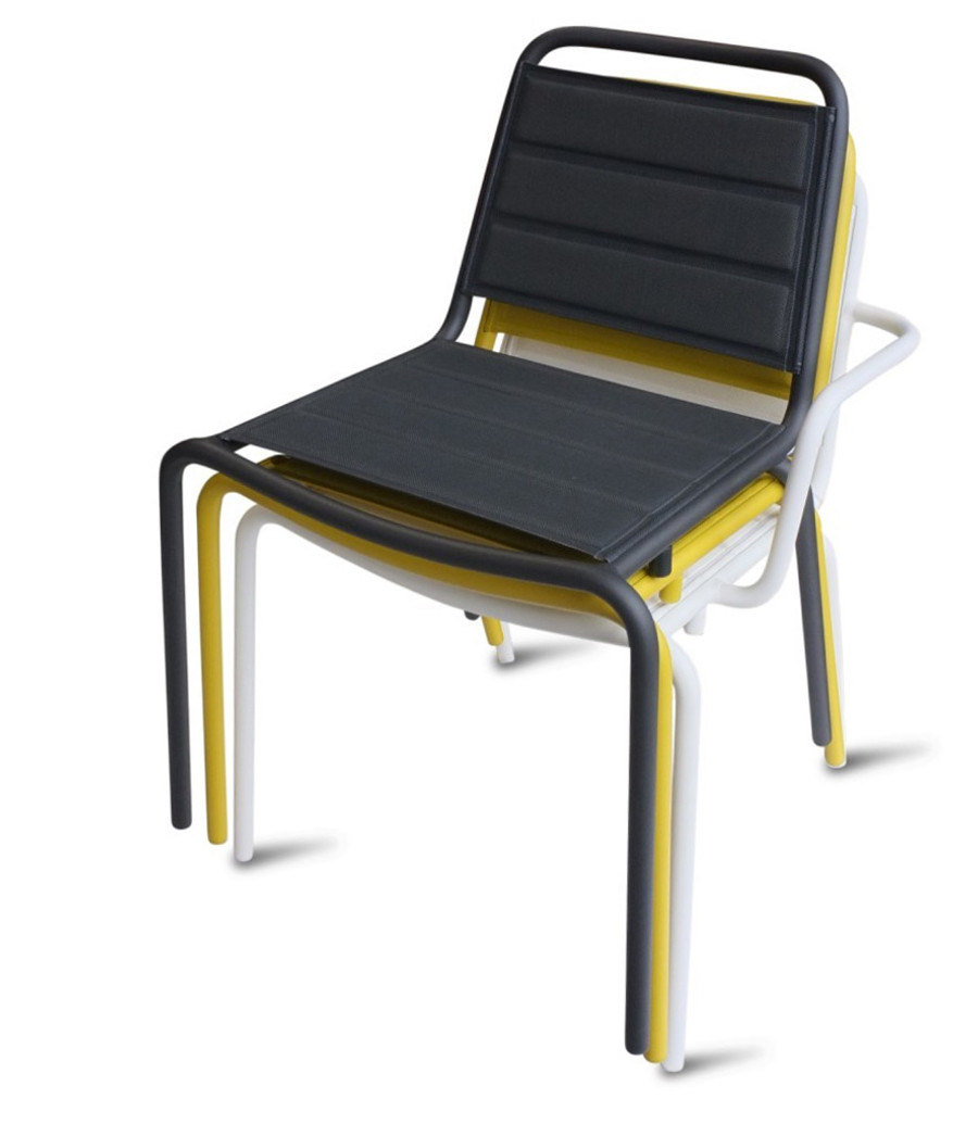 Vega side chair and arm chair are stackable