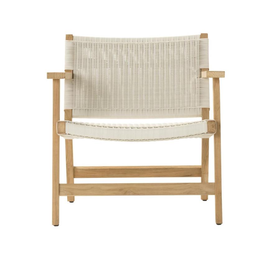 Front view of Devon Jackson outdoor easy chair in whitewash wicker