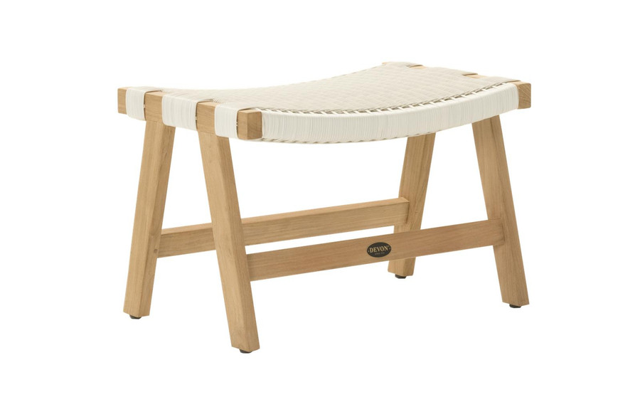 Devon Jackson Easy stool in whitewash