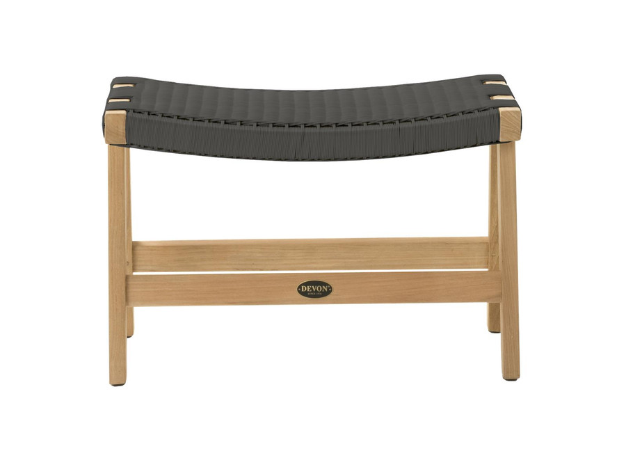 Front view of Devon Jackson Easy stool in shadow grey