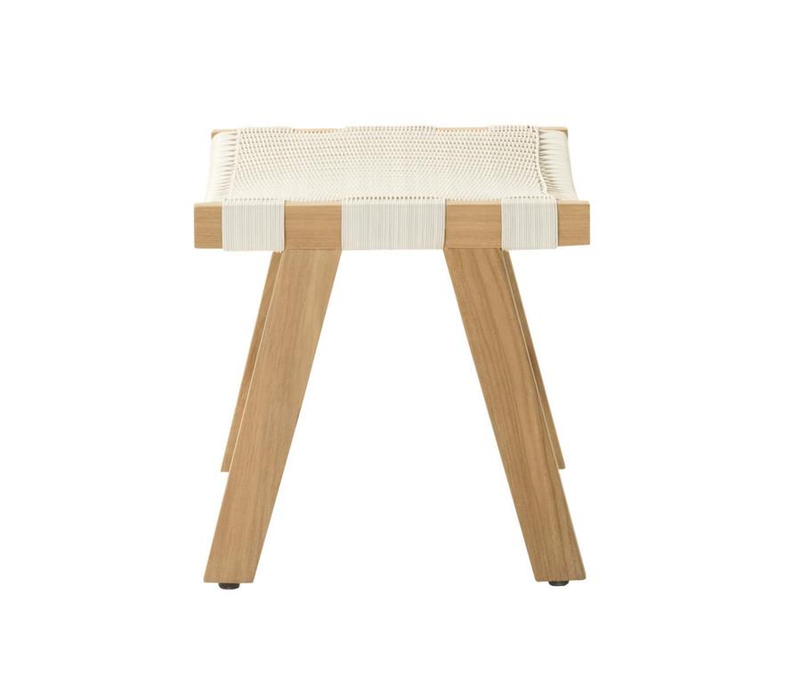 End view of Devon Jackson Easy stool in whitewash