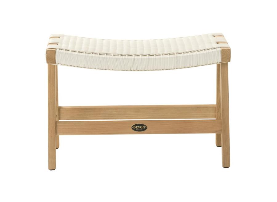 Front view of Devon Jackson Easy stool in whitewash