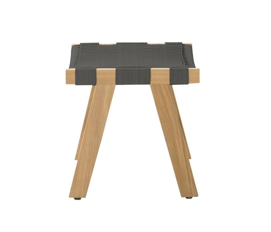End view of Devon Jackson Easy stool in shadow grey