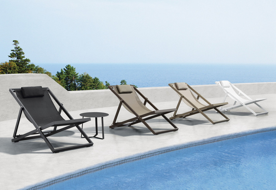 Xanthus outdoor folding deck chair  - various colours