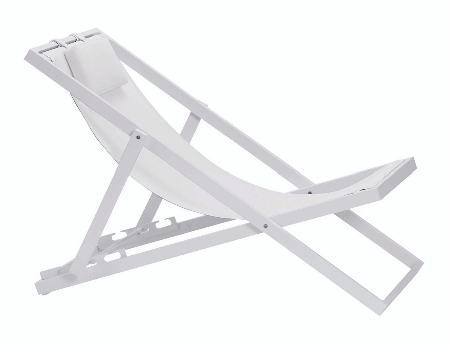 white sling with white textured powdercoat