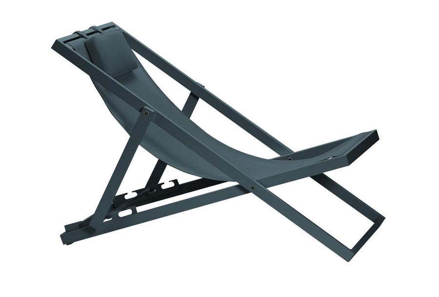 Xanthus outdoor folding deck chair  - various colours