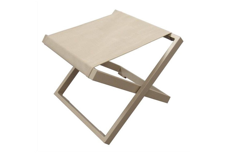 Xanthus outdoor folding stool in khaki or coffee