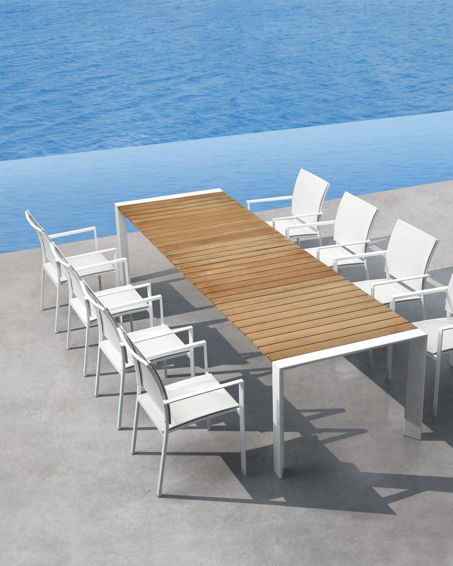 shown with Orlando teak/aluminium extending outdoor table