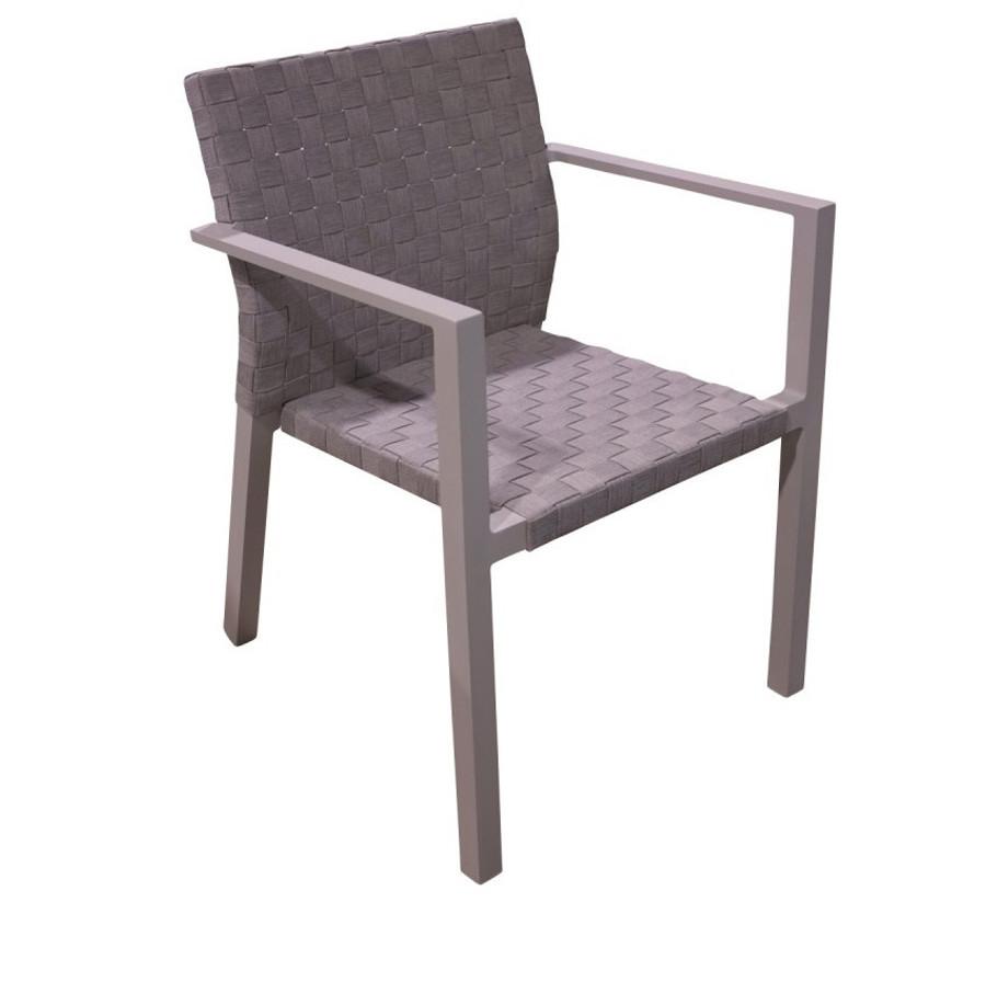 Dining chair Miami - aluminium & strap