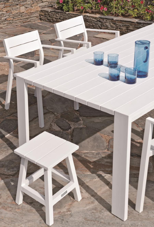 Messina outdoor stool/table aluminium