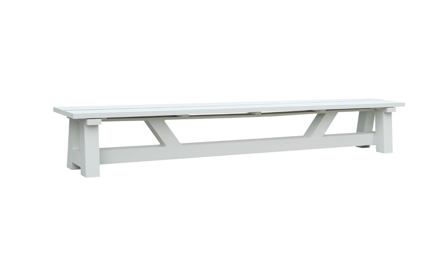 Somerset outdoor bench 300x45 white aluminium