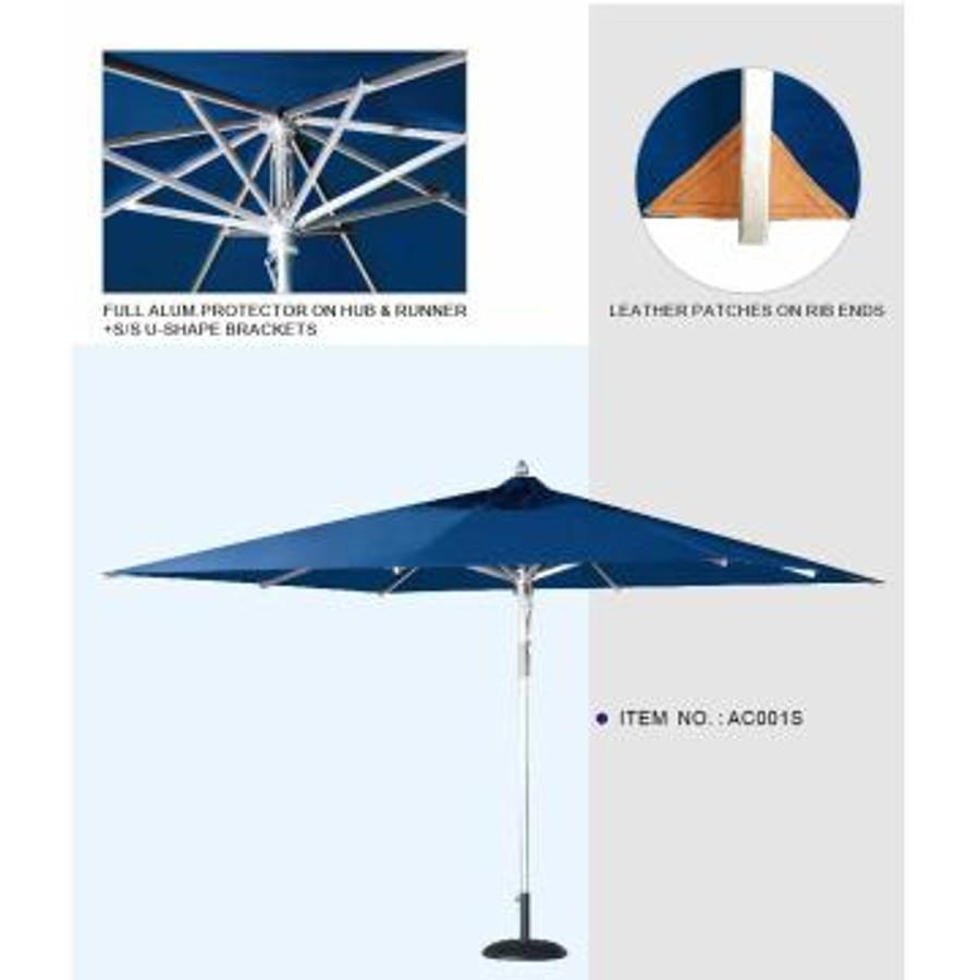 Umbrella Aluminium 3m x 3m Square Comm  - Tiri by Point